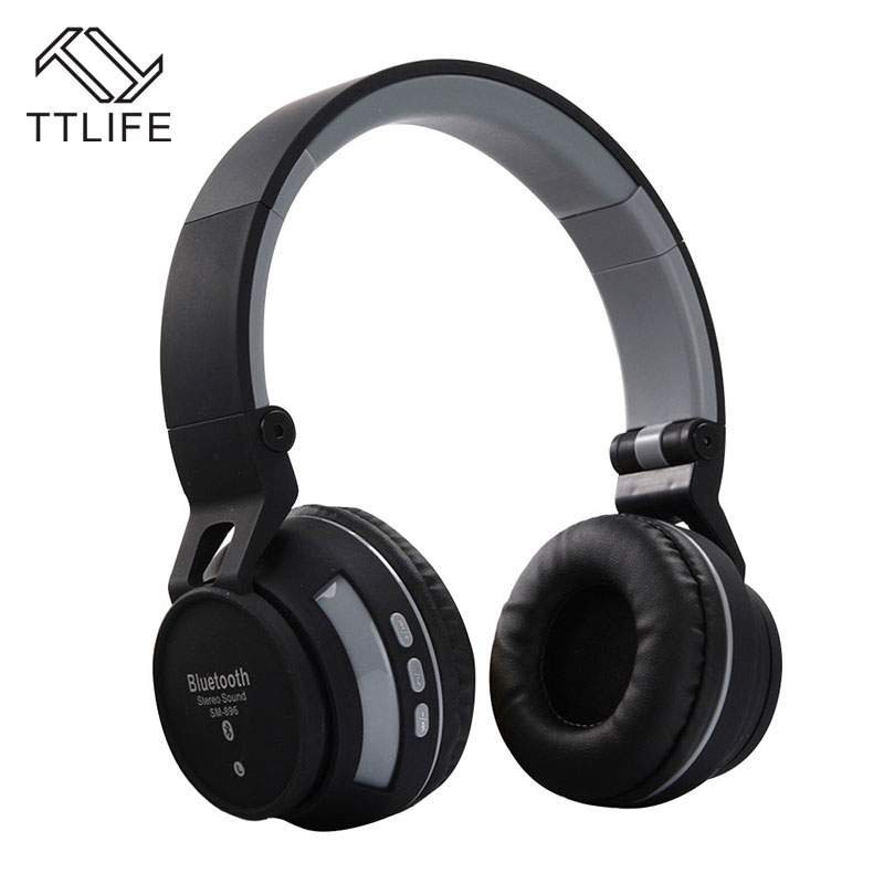 TTLIFE Bluetooth Stereo Headphones Sports Wireless Bass Headset Hands Free Earphone Support Multi-point Connection for Phones PC<br><br>Aliexpress