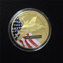 50pcs/lot DHL Free shipping, F-35 LIGHTNING II coin 1oz UNITED STATES AIR FORCE JET FIGHTER(China)