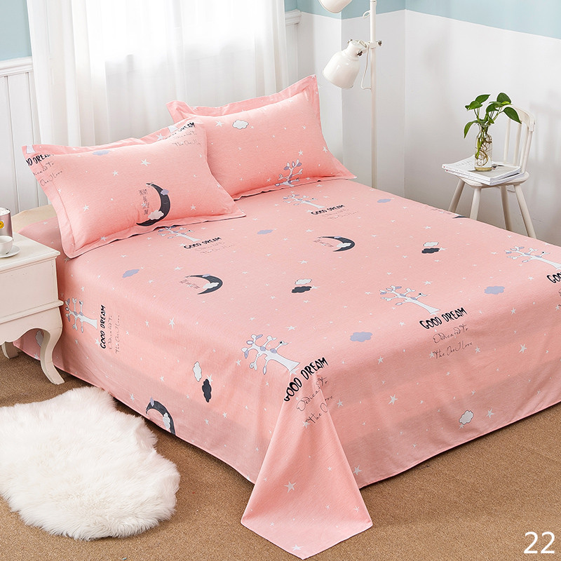 100% Cotton Modern Fashion Bed Flowers Flowers And Trees Printing Pattern 3pcs Bed Sheets Pillowcase Large Size 230x250cm 3