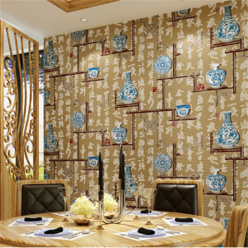 beibehang Chinese classic pattern wallpaper non - woven environmental protection hotel tea house full house classical style<br>
