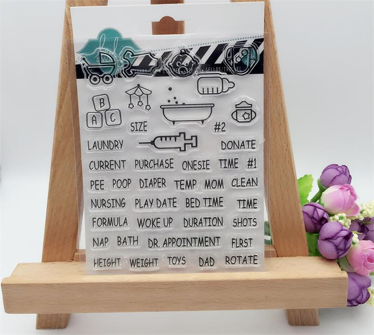 Childrens Toys Words Transparent Clear Stamp DIY Silicone Seals Scrapbooking/Card Making/Photo Album Decoration Supplies<br><br>Aliexpress