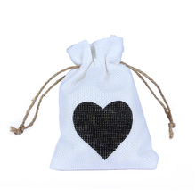 KATE FAVORS 12pcs White Color Decorative bags Linen Cotton Drawstring Bag Christmas/Wedding Gift Pouch Product Packaging Bags(China)