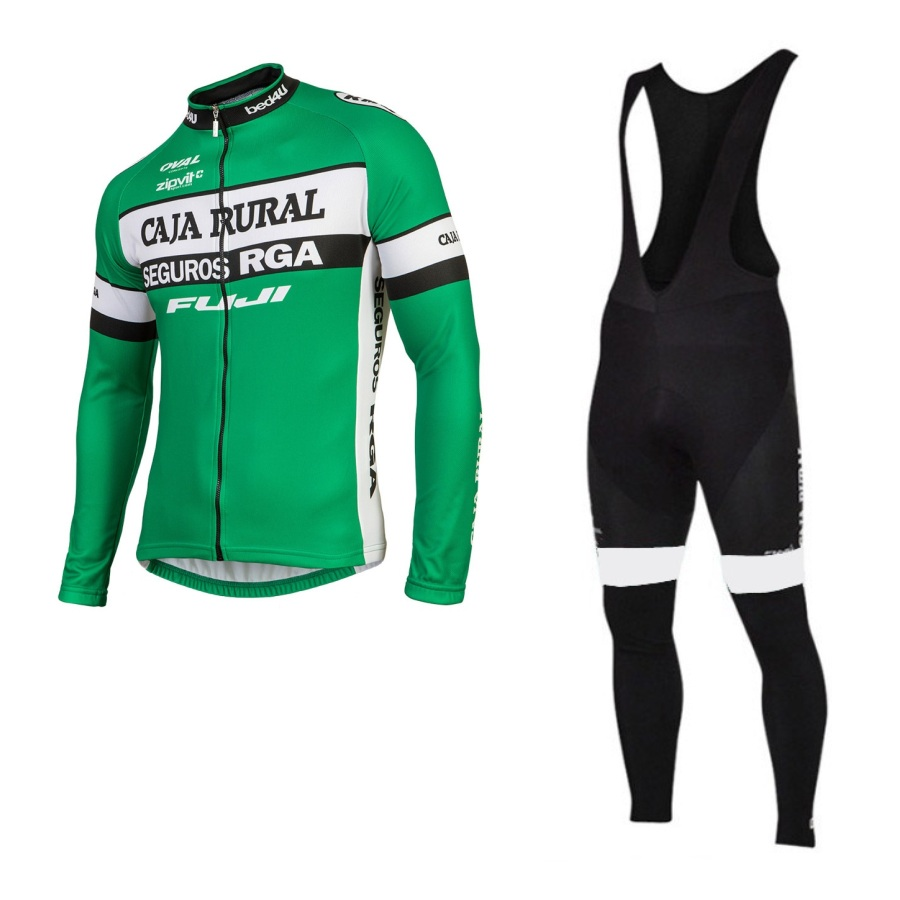 SGCIKER winter thermal fleece pro team caja rural cycling jersey warmer long sleeve bike cloth MTB Bicycle Ropa Ciclismo gel pad