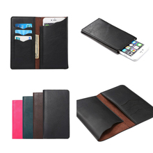 5.3-5.7 inch Universal Cell Phone Pouch Leather Wallet Case For Lg V10 G4 G3 Nexus 5X Card Holder Fashion Bag