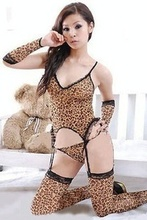 Sexy Womens Leopard Lingerie Underwear Sleepwear Backless Teddies Nightwear Wild Sex Lingerie Leopard