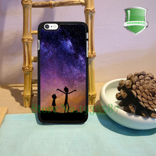 RICK AND MORTY SPACE NEBULA Fashion Cell Phone Cases For Iphone 6s 6sPlus 6 6Plus 5 5s 5c 4 4s T*2494