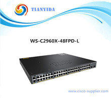 NEW Catalyst 2960X WS-C2960X-48FPD-L 48 POE 10/100/100 Port Gigabit managed Switch(China)
