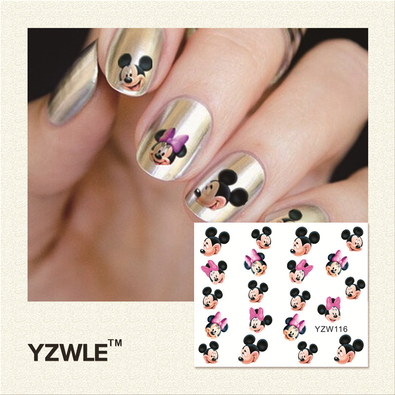 YZWLE 1 Piece Hot Sale Water Transfer Nails Art Sticker Manicure Decor Tool Cover Nail Wrap Decal (YZW116)<br><br>Aliexpress