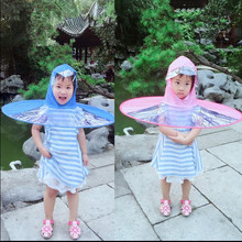 Creative Raincoat Umbrella Children Headwear Hat Fishing Umbrella Men Women Rain Coat Cover Transparent Foldable Hung Outdoor