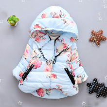 Retail!2017 new baby girl flower girl coat jacket outerwear autumn winter clothes children outerwear jacket with hood,girls clot