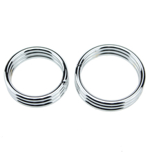 Buy 1pcs 45/50mm Chastity Locks Stainless Steel Metal Penis Rings Delay Ejaculation Prevent Impotence Penis Cock Ring Penile lock