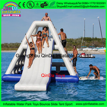 Giant Inflatable Water Slide For Adult,Custom Pool Float Water Park Slides Inflatable Island Slide Water Toys With Free Air Pump