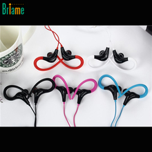 2017 Ear Hook Sport Earphone Super Bass Headphones Running Headset With Mic Ear Hook For All Mobile Phone Stereo Sport Headphone(China)