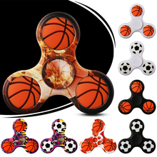 Football Spinner 3D Basketball DIY Hand Spinners Fidget Finger Spiner Puzzles Toys For Autism ADHD Stress Adults Kid Game Gifts(China)