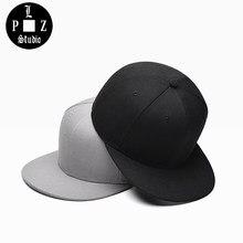 PLZ unisex gorra de béisbol del SnapBack de hiphop borde recto clásico  sombrero patineta calle moda bboy rapero sombreros para l. da6379a1e71