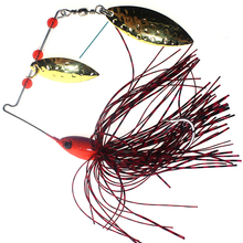 Spinner fishing lures baits spoon Swisher Buzzbait Bass Minnow Crank popper vib Spinnerbait lure tackle Barb hooks pesca 3D eyes(China)
