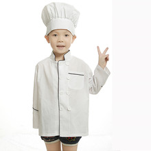 child chef costume for kids cook costumes uniform clothing halloween costumes for children chef coats chef kitchen(China)