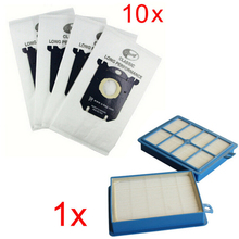 10x Vacuum Cleaner Dust Bags s-bag and 1x H12 Hepa filter fit for Philips Electrolux Cleaner Filters High Quality