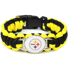 Paracord Survival Bracelet Pittsburgh Steelers Team NFL Sport Fans Football Bracelets Friendship Bracelet Yellow and Black Cord