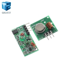GREATZT Smart Electronics 433Mhz RF transmitter receiver Module link kit arduino/ARM/MCU WL diy 315MHZ/433MHZ wireless