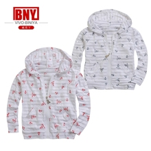 child's hoody one piece long sleeve cotton print sunscreen coat bench cloth Rash Guard UV Sun Protection UPF50+ small big size(China)
