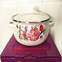 CASSEROLES ENAMEL COOKING POT STOCK / SOUP UTENSIL CERAM KITCHEN TOOL COOKWARE(China)
