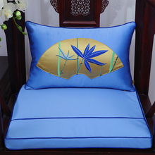 Elegant Vintage Patchwork Lumbar Pillow Sofa Seat Chair Car Decoration Chinese style Silk Brocade Backrest Back Cushion
