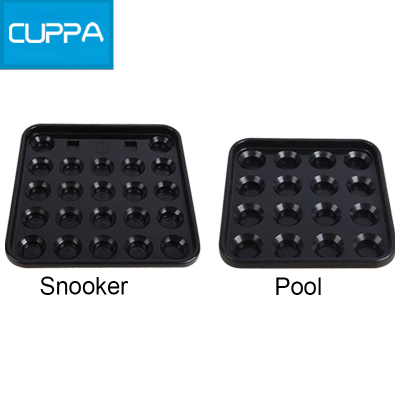 New Cuppa Plastic 16 Holes 22 Holes Tray Pool Snooker Billiard Table Ball Storage Holder Black China(China (Mainland))