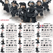 WW2 Anti Germany Military SWAT policeman City Police Army Soldier weapon building blocks action  bricks toys for children
