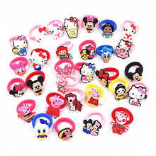 1Pcs Cartoon Princess Minnie Girls Kitty Hair rope Cute Hair Accessories Elastic Hairbands Headwear Children Kids Rubber bands(China)