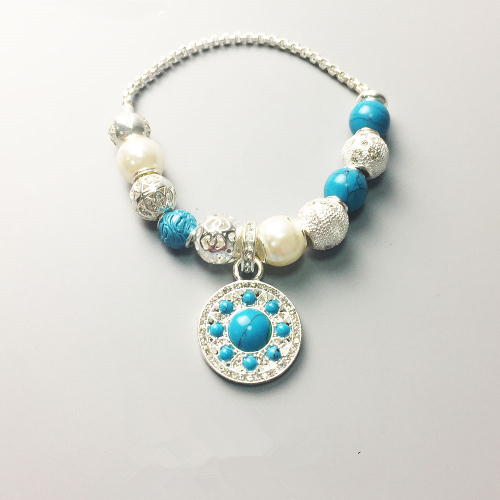 Bracelet-Blue-Ornament-Starfish-Bead-Thomas-Style-Fashion-Karma-Jewelry-Gift-For-Women-In-925-Sterling