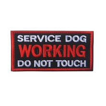Embroidered Patch SERVICE DOG WORKING Morale Patch Tactical Applique Emblem Badges Embroidery Patches For Dogs(China)
