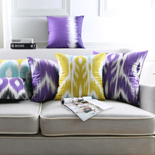 Geometric Flower Cushion Covers Purple Series Pillows Cover 7 Styles Supersoft pillow case Bedroom Sofa Decoration(China)