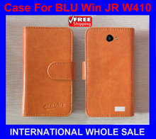 In Stock New 2015 items Free Shipping Factory Price Flip Leather Case Exclusive Flip Cover For BLU Win JR W410+tracking number(China)