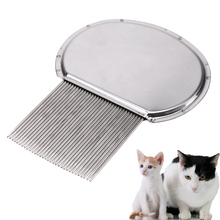 Professional Pet Lice Comb Stainless Steel Dog Cat Comb Silver Pet Grooming Brush Tool for Small Medium Puppy Dog Cats(China)