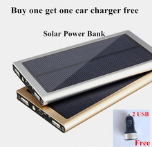Outdoor Waterproof  10000mAH 20000mAH Solar Power bank not 100000mah , external power bank with solar panel