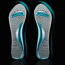 1 Pair Foot Massage High Heels Protector Arch Support Cushion Pads Silicone Insoles Foot Care Shoes Insole For Woman Insoles(China)