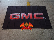GMC Business trip car flag,Global Manufacturer Certificate banner,90*150CM, racing car flagking polyster(China)