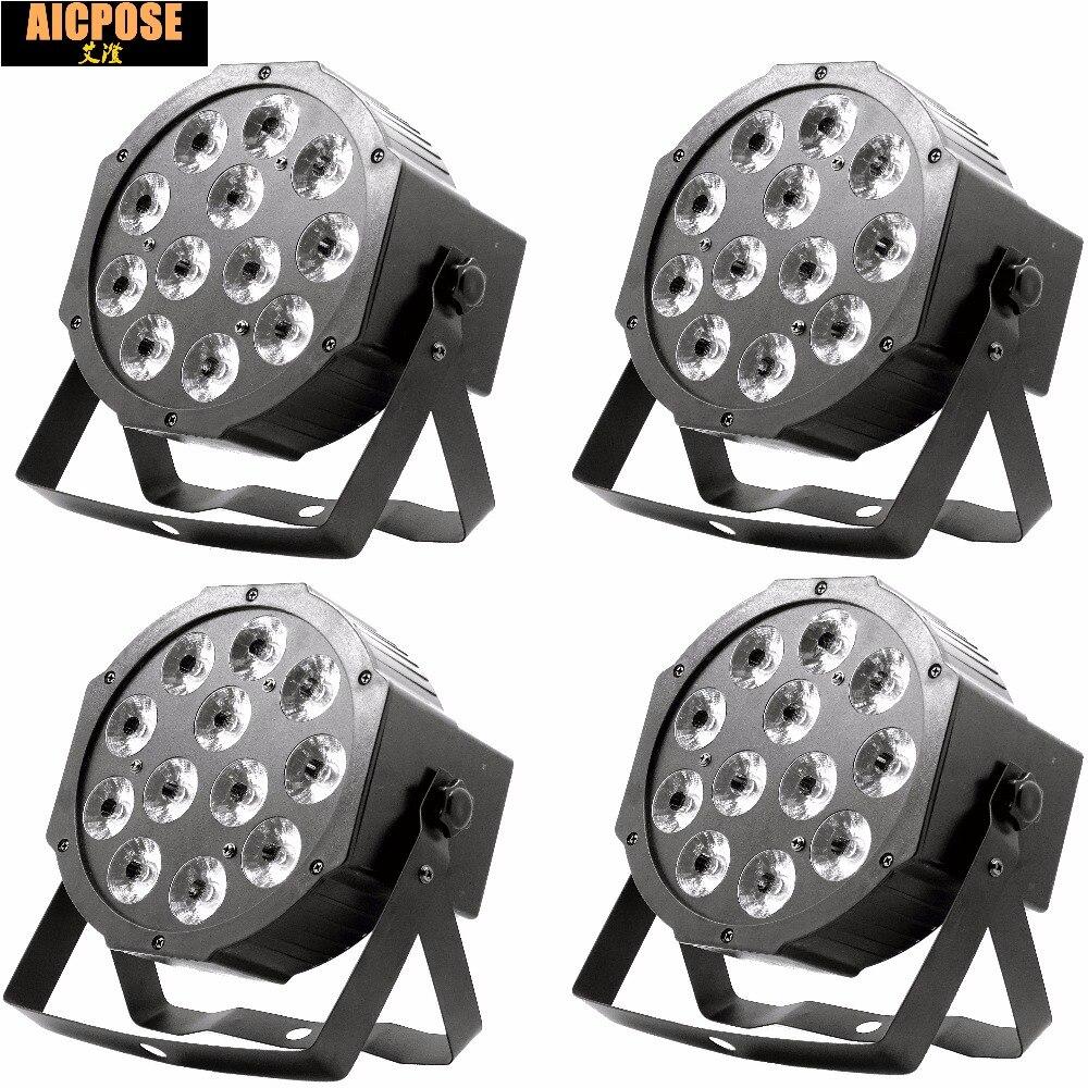 4pcs/lots 12w led lamp beads 12x12W led Par lights RGBW 4in1 flat par led dmx512 disco lights professional stage dj equipment<br>