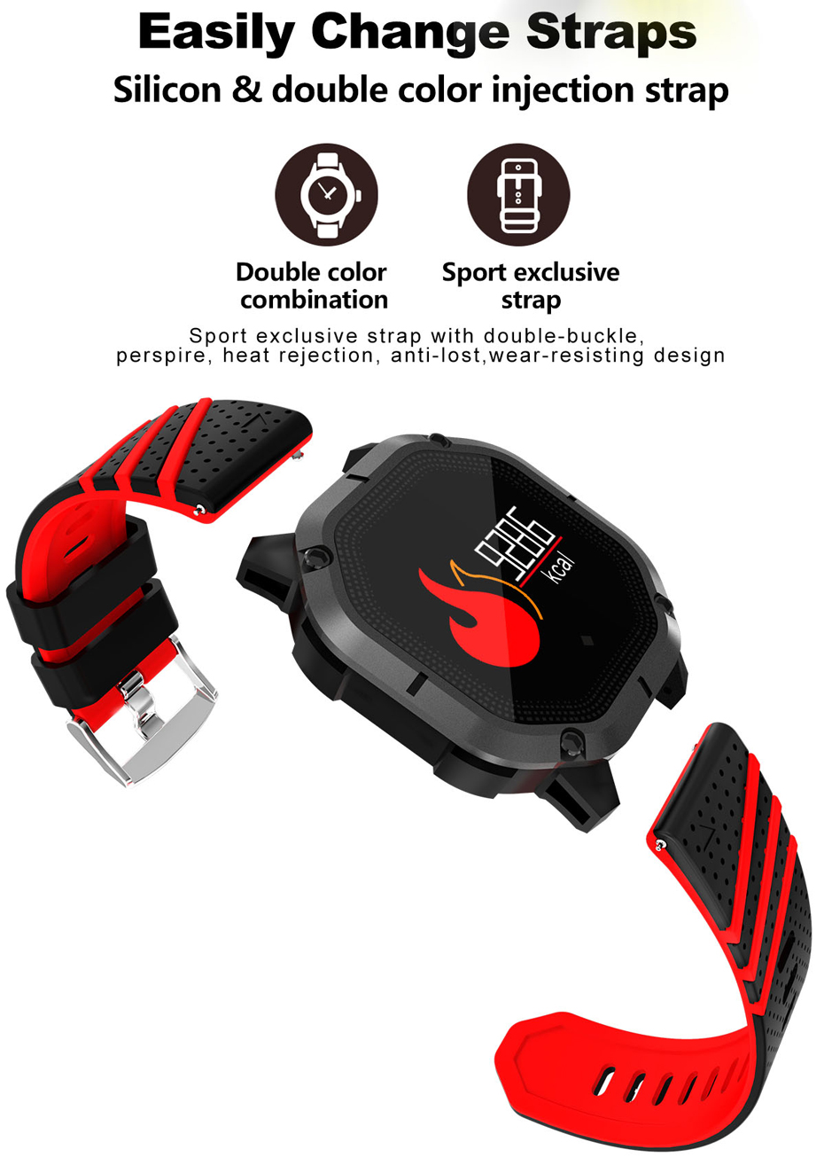 COLMI K5 Smart watch IP68 Waterproof Multiple Sports Modes Cycling Swimming Heart Rate Monitor Blood oxygen Blood pressure Clock 12