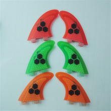 GX L Surf fins Quad Set FCS Glassfiber Honeycomb surf fin surfboard SUP 2*L side fins+2*GX rear fins