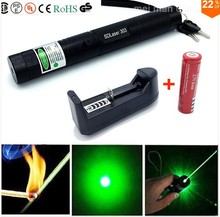 303 Focus Adjustable Fire Match High Power 532nm Green Laser Pointer dot 200mW(China)