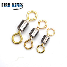 FISH KING 1 Pack Hyper Strong Fishing Rolling Swivel RS Fish Hook Lure Connector Terminal Fishing Tackle Shop Accessories