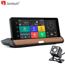 Junsun 3G 7 inch Car DVR GPS Navigation Android 5.0 Bluetooth wifi Automobile with Rear view camera Navigators sat nav Free maps(China)