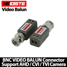 10pcs CCTV Video Balun Passive Transceivers 2000ft Distance UTP Balun BNC Cable Cat5 CCTV UTP Video Balun(China)
