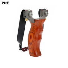 Genuine Piao Yu Slingshot Hunting Catapult 4 Aiming Titanium Alloy Flat Rubber Band Professional Outdoor Shooting Fishing Game(China)