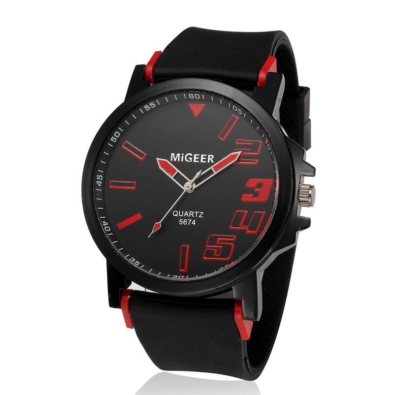New Listing Saat Erkekler Men's Watch Casual Men Fashion Silicone strap Sport Cool Quartz Analog Hours Wrist Watch Clock 3M24 (12)