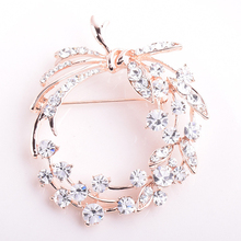 One Piece Circle Flowers Scarf Brooch ensemble bijoux femme mariage lapel Accessories Gifts
