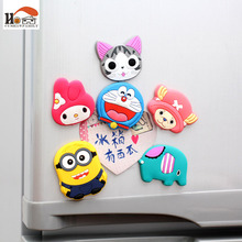 1 pcs silicone Cartoon anime fridge magnets whiteboard Leave message sticker Refrigerator Magnets Kids gifts Home Decoration(China)