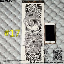 "Nu-TATY ""The Dragon Force"" Full Sleeve Temporary Body Art, 48*17cm Arm Flash Tatto Stickers, Waterproof Tatto Sex Products Henna"